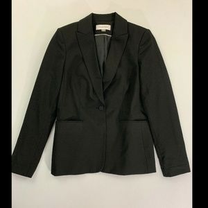 Calvin Klein Black Long Sleeve One Button Blazer